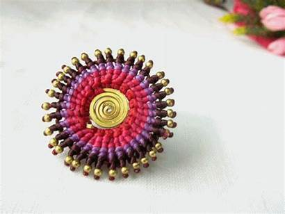 String Ring Wax Jewelry Circle Woven Thailand