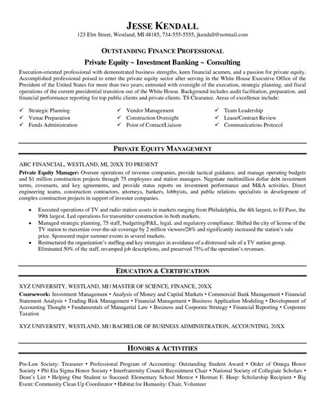 equity resume resume template 2017
