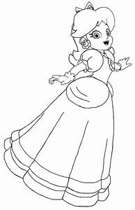 Princess Peach Coloring Pages Printable - Mario And Peach ...