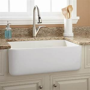 30quot durant reversible fireclay farmhouse sink smooth for 30in farmhouse sink