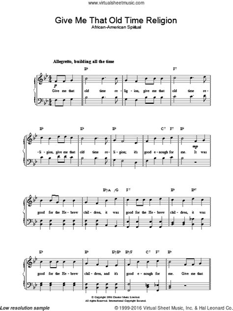 give    time religion sheet   piano solo