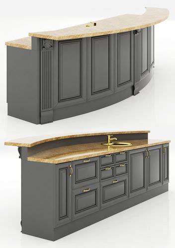 kitchen island cabinet 3 3d cgtrader