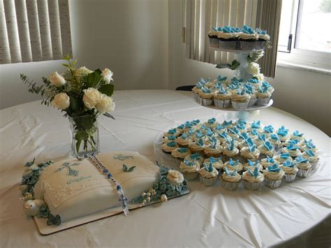 christening table decoration ideas to include pictures