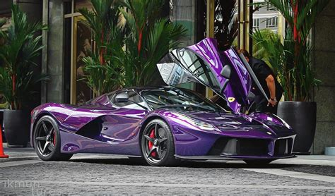 koenigsegg koenigsegg purple laferrari belongs to crown prince of johor