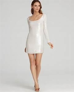 Bloomingdales Size Chart Abs By Allen Schwartz Long Sleeve Sequin Dress