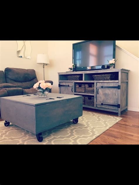 media console  storage coffee table shanty  chic