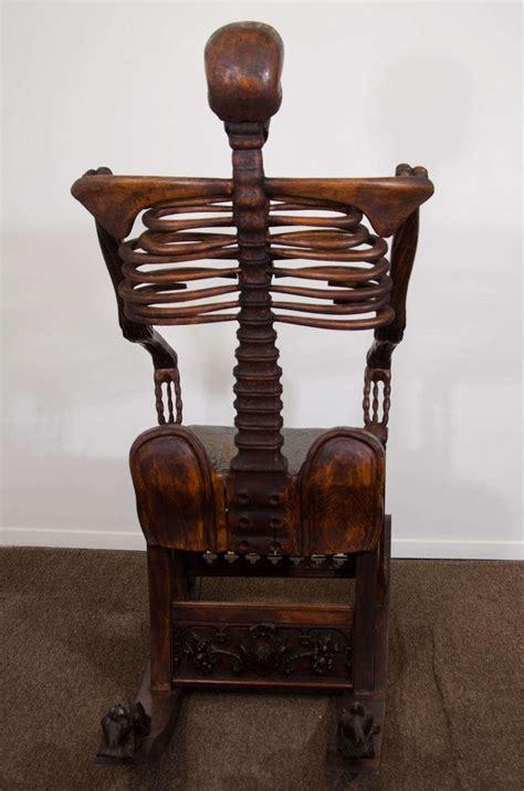 foto de An Antique Hand Carved Skeleton Rocking Chair at 1stdibs