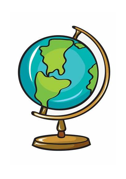 Globe Geography Clipart Transparent Material Pull Cliparts