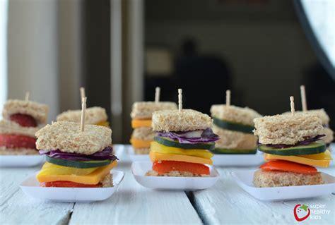 lunch box idea mini rainbow sandwiches healthy ideas