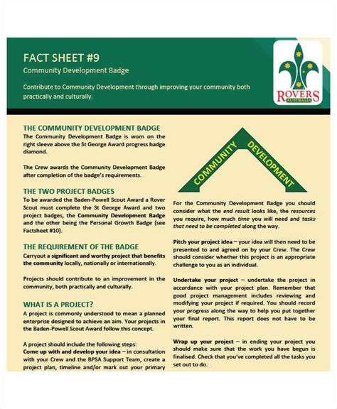 sample fact sheet templates   ms word pages