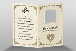 free memorial card template in indesign format download With in memoriam cards template