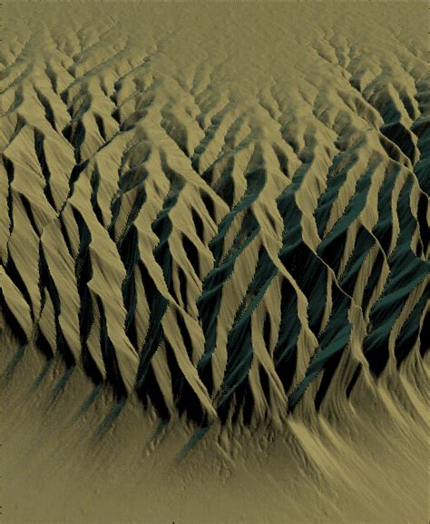 mountain erosion  river pattern simulations
