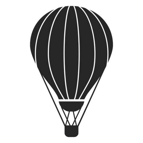 Silueta de globo aerostático a rayas Descargar PNG/SVG