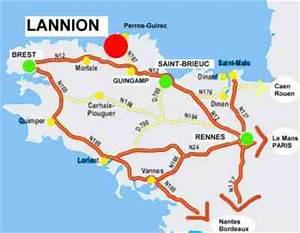 Autoroute Rennes Paris : france bretagne 22 lannion location g tes itin raire de vacances route r seau routier acc s ~ Medecine-chirurgie-esthetiques.com Avis de Voitures
