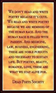 dont read  write poetry dead poets society quotes