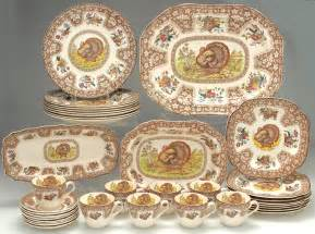 Thanksgiving Brown Multicolor Spode Replacements Decoration Thanksgiving Dinnerware