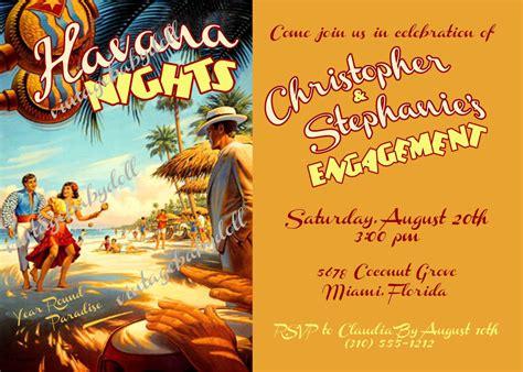 Havana Nights Engagement Rehearsal Dinner, Birthday, Or