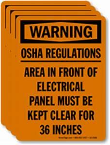 osha regulations electrical panel be kept clear label With electrical panel warning labels