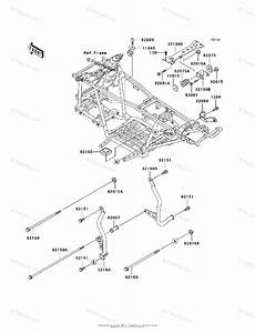 Kawasaki Atv 1999 Oem Parts Diagram For Frame  U0026 Fittings