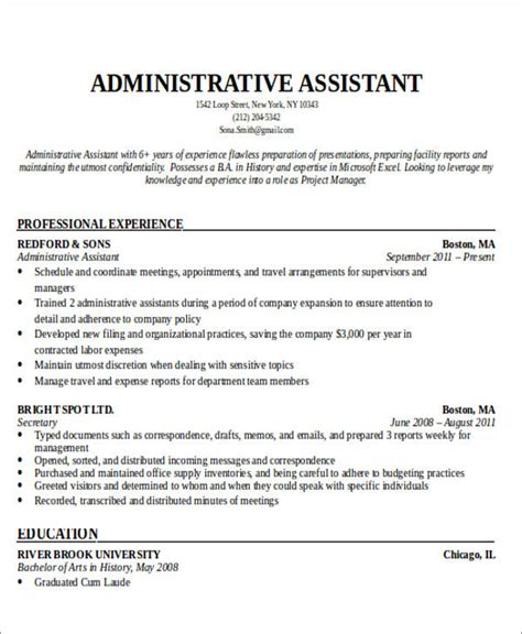 admin asst resume administrative assistant resume objective 6 examples in