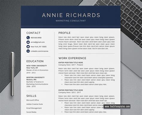 Here you can find an example of cv for a student, applying to a university. 3 IN 1 CV BUNDLE, Professional CV Templates for MS Word ...