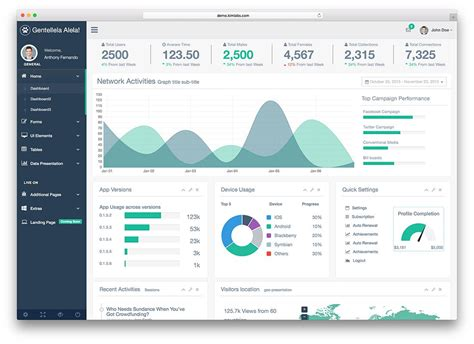 bootstrap admin dashboard templates  colorlib