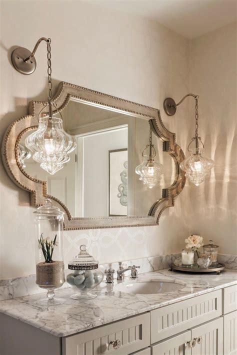 farmhouse powder room bathroom lighting modern decorative unique messagenote