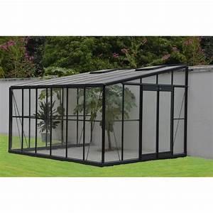 Serre Acier Verre : serre grise jardin d 39 hiver 12m adossable base achat ~ Premium-room.com Idées de Décoration