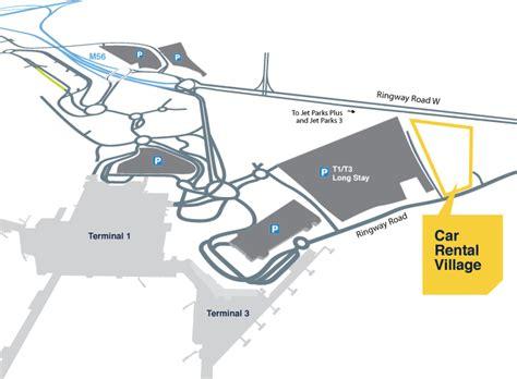travel bureau car car rental manchester airport map my