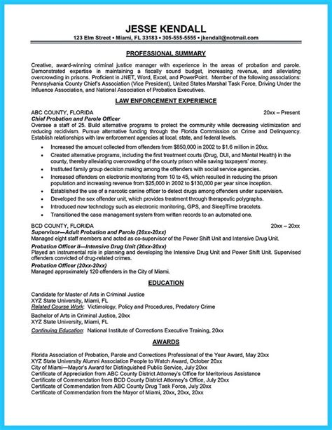 correctional officer resume to get noticed resume template resume sle
