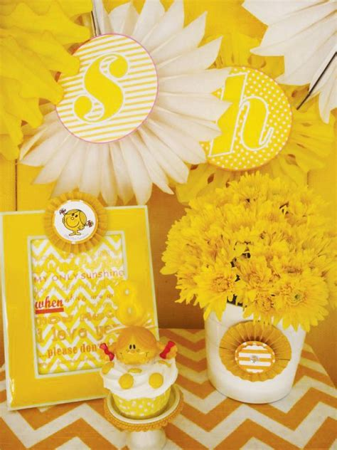 ideas  yellow party decorations  pinterest