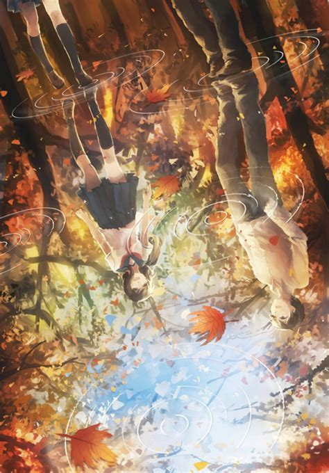 Autumn Anime Wallpaper - leaves water anime autumn wallpaper