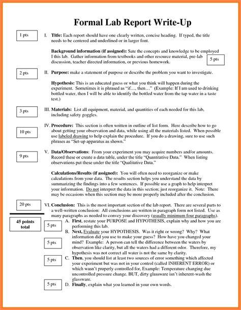 formal lab report  marital settlements information