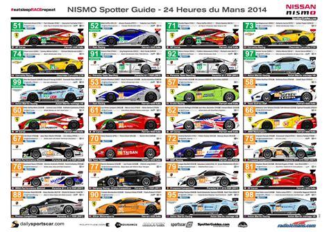 bureau le mans nismo 2014 wec spotter guide gt1 guide