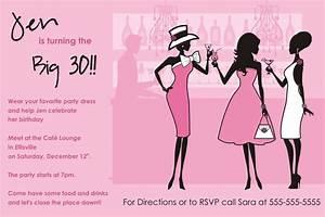Girls Night Out Birthday Invitation