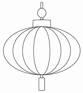 Chinese Lantern Printable -outline in black crayon and ...