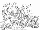 Coloring Ship Sunken Pages Adult Colouring Shipwreck Printable Coloringgarden Pdf Pirate Ships Sea Sheets Water Template Sketch Pirates Books Mermaid sketch template