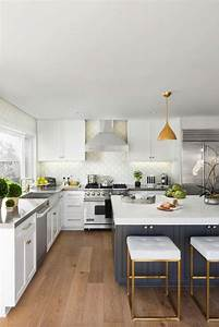 classic white cabinet and laminate wooden floor for With kitchen colors with white cabinets with mid century modern metal wall art