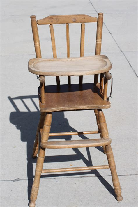 vintage wooden high chair shopping