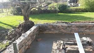 Terrasse Avec Muret : cr ation de terrasses dallages et murets pour sublimer ~ Premium-room.com Idées de Décoration