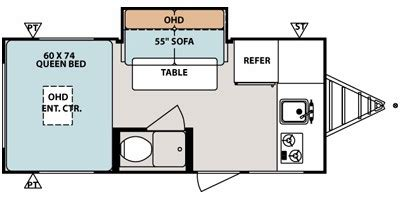 2015 R Pod Floor Plans by Forest Pod George M Sutton Rv Eugene Oregon New 2015