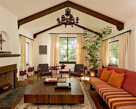 White Brick Mediterranean-mediterranean-living Room