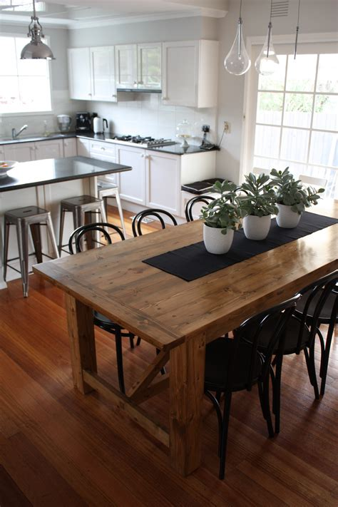 rustic dining table pairs with bentwood chairs bentwood