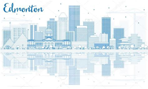 Outline Edmonton Skyline With Blue Buildings And Business Cards For Henna Artists Sets Usually Consist Of Letterheads And Envelopes Amazon.ca Thank You Amazon In What Ways Are Different Best Nonprofit Cool Black White Hong Kong