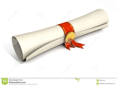 certificate scroll stock image image