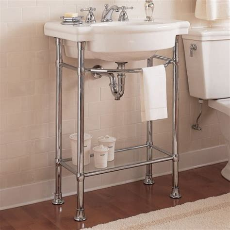 console sink with chrome legs sink metal console vertical home garden