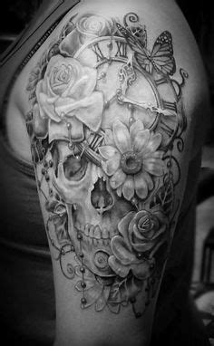 29 best Realistic Skull And Rose Half Sleeve Tattoo images   Arm tattoos, 3d tattoos, Arm Tattoo