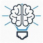 Brain Icon Bulb Creativity Thinking Productivity Icons