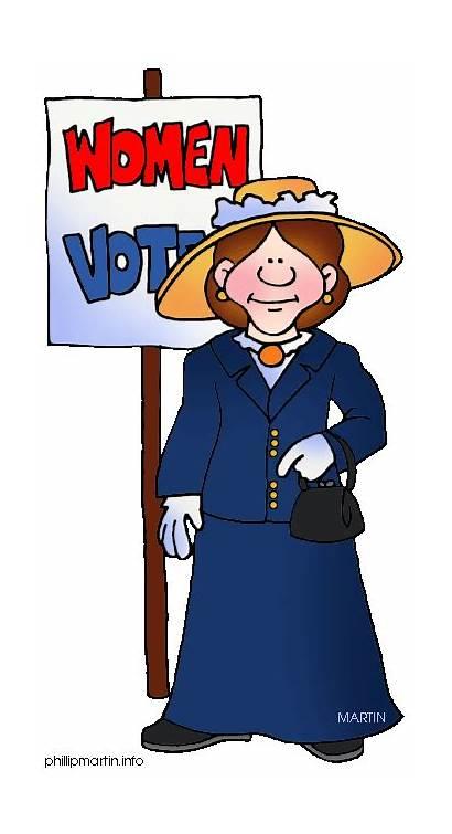 Suffrage Government Voting Movement Clipart Clip Vote