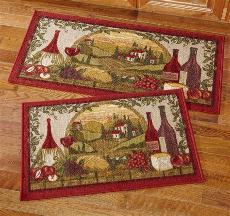 kitchen rug sets wine vineyard kitchen rug set ebay